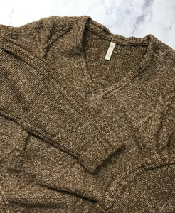 Cable Knit Sweater-Brown