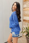Sadie's Simple Sweater in Blue