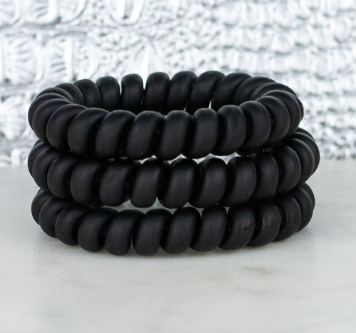 Hotline Hairties- All Black Matte