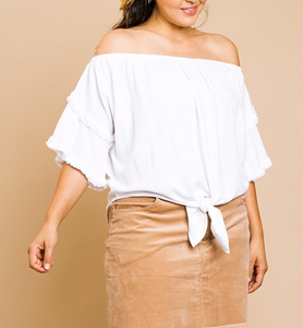 Fringe Off Shoulder Top