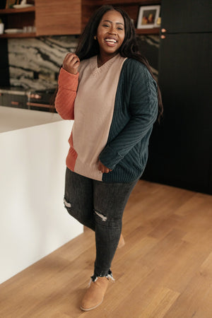 A Sweater With Colors in Peach