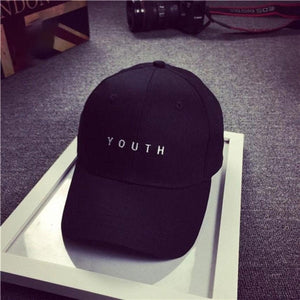 Youth Letter Print Unisex Women Men Baseball Cap