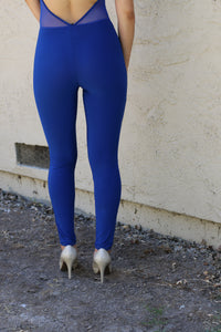 ILLUSION BLUE JUMPSUIT