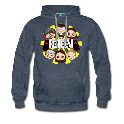 FGTeeV Controller Family Logo Pullover Hoodie (Unisex) - heather denim