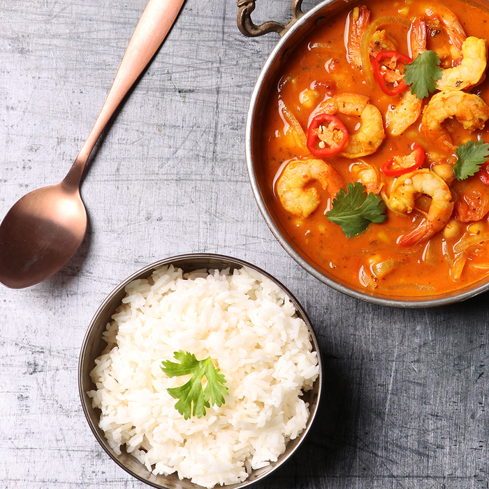 Prawn and veg curry