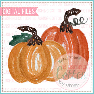 2 LITTLE PUMPKINS WATERCOLOR PNG BC
