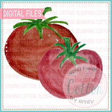 Load image into Gallery viewer, 2 TOMATOES WATERCOLOR ART