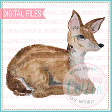 Load image into Gallery viewer, BABY DEER LYING DOWN WATERCOLOR ART