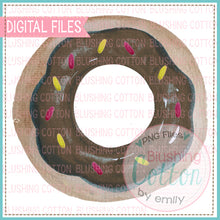 Load image into Gallery viewer, CHOCOLATE DONUT WITH SPRINKLES WATERCOLOR ART