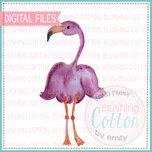 Load image into Gallery viewer, FRONT FLAMINGO WATERCOLOR ART