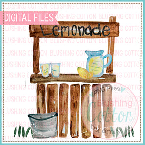 LEMONADE STAND WITH BUCKET WATERCOLOR