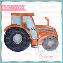 Load image into Gallery viewer, ORANGE TRACTOR WATERCOLOR ART