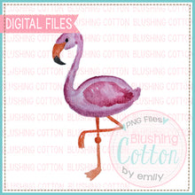 Load image into Gallery viewer, SIDE FLAMINGO WATERCOLOR ART