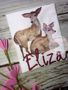 2 BABY DEER 2 WATERCOLOR ART