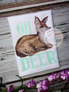 BABY DEER LYING DOWN WATERCOLOR ART