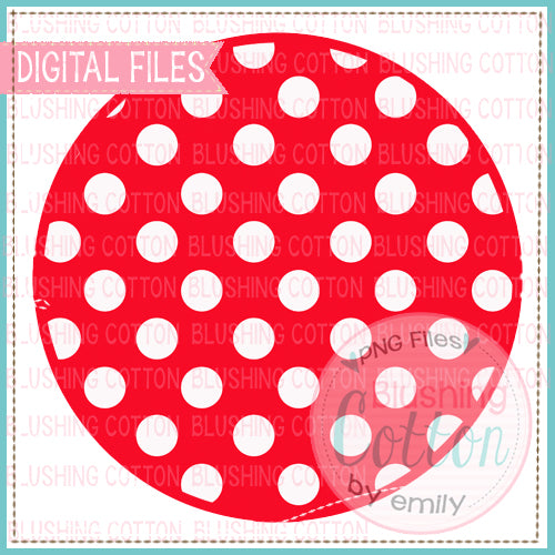 RED & WHITE DOT BACKGROUND CIRCLE