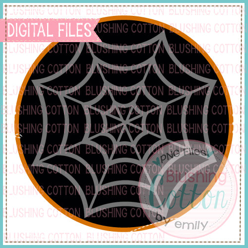 !!FREE!! SPIDER WEB CIRCLE BLACK AND ORANGE - BC