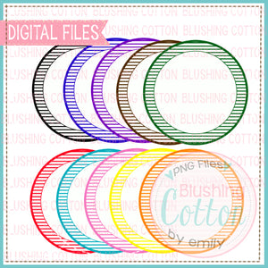 BACKGROUND SET SMALL STRIPE CIRCLE WITH INNER WHITE CENTER WATERCOLOR PNG BC