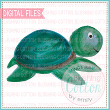 Load image into Gallery viewer, SWIMMING SEA TURTLE WATERCOLOR ART