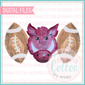 WILD PIG FOOTBALL TRIO DESIGN PNG WATERCOLOR BC