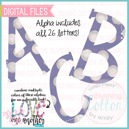 LAVENDER PURPLE POLKA DOT PARTY FONT BUNDLE    BCBC