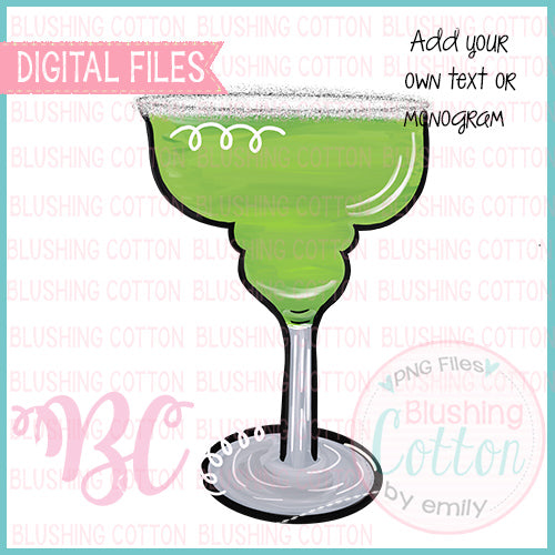 FROZEN MARGARITA IN A HAPPY HOUR GLASS DESIGN  BCBC