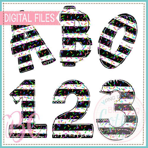 BOLD STRIPES AND SPRINKLES ALPHA AND NUMBER BUNDLE  BCBC