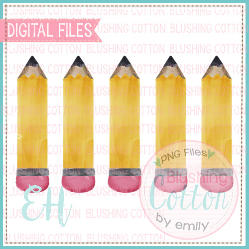 CHUBBY YELLOW PENCIL ROW BCEH