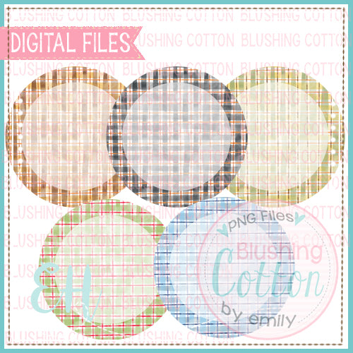 FADED WATERCOLOR PLAID CIRCLES BCEH