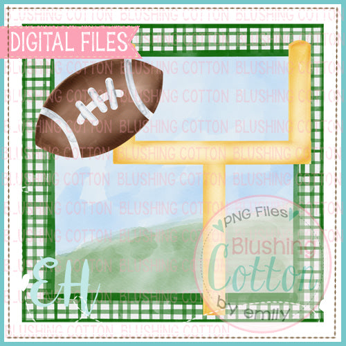 FOOTBALL GOAL IN GREEN FRAME DESIGN   BCEH