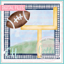 Load image into Gallery viewer, FOOTBALL GOAL IN NAVY GINGHAM FRAME BCEH