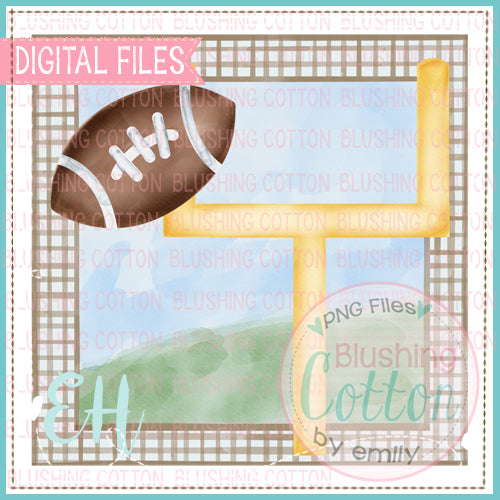 FOOTBALL GOAL TAN AND WHITE DESIGN   BCEH