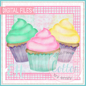GIRLY CUPCAKES IN FRAME 2 DESIGN    BCEH