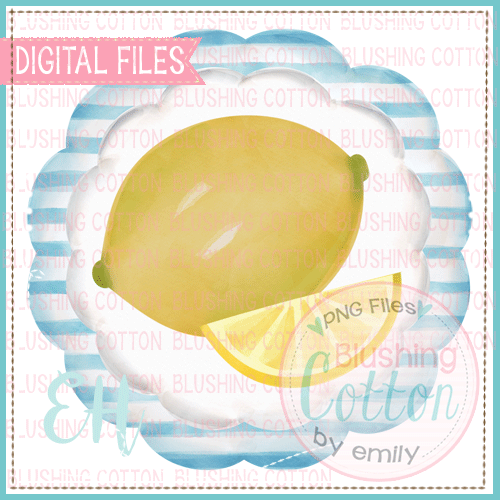 LEMON SLICE STRIPED SCALLOP DESIGN  BCEH