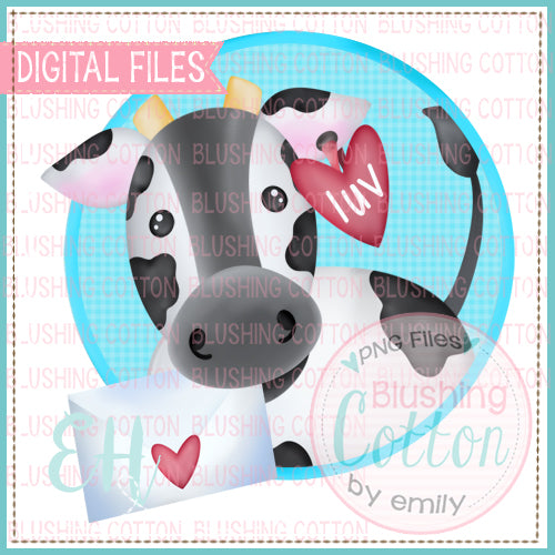 LUV COW WITH LETTER CIRCLE  BCEH