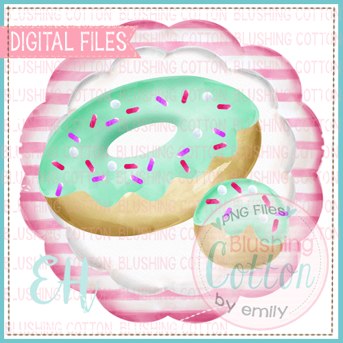MINT DONUT IN STRIPED SCALLOP DESIGN    BCEH