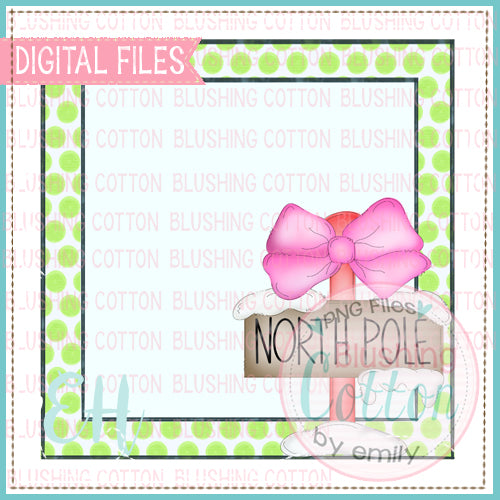 NORTH POLE WITH BOW TAG BCEH