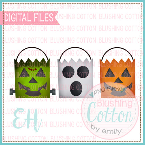PAPER SACK HALLOWEEN TRIO WATERCOLOR DESIGN BCEH