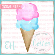 Load image into Gallery viewer, PINK AND AQUA ICE CREAM CONE BCEH