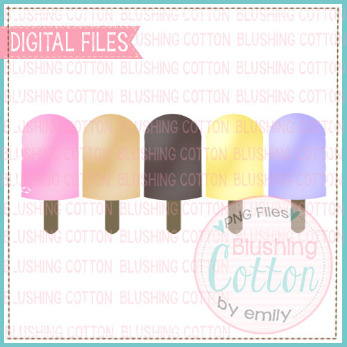 POPSICLE ROW FOR GIRLS  WATERCOLOR DESIGN  BCEH