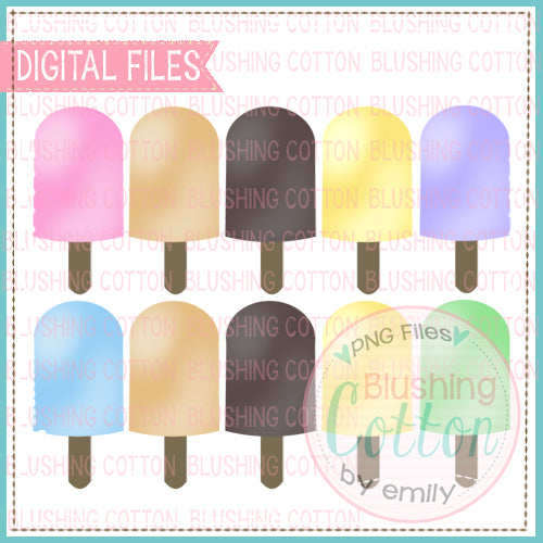 POPSICLE ROW SET WATERCOLOR DESIGN  BCEH