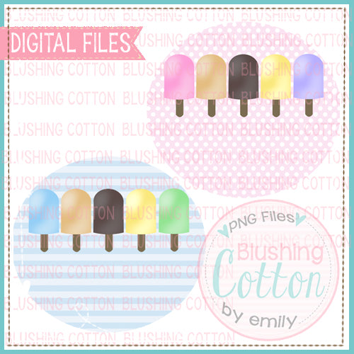POPSICLE ROW CIRCLE SET WATERCOLOR DESIGN  BCEH