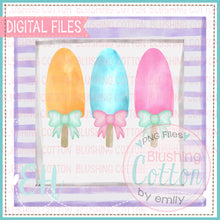 Load image into Gallery viewer, POPSICLE TRIO WITH BOWS IN FRAME DESIGN   BCEH