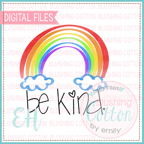 RAINBOW BE KIND WATERCOLOR DESIGN BCEH