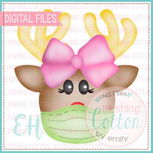 SMALL NOSE REINDEER GIRL WITH MASK BCEH