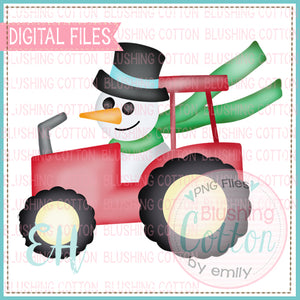 SNOWMAN DRIVING TRACTOR BCEH