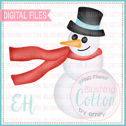 SNOWMAN WITH FLOWING SCARF BCEH