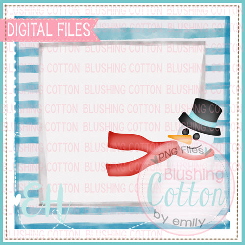 SNOWMAN WITH FLOWING SCARF TAG BCEH