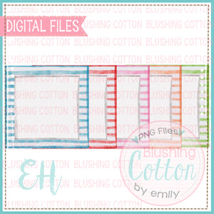 WATERCOLOR STRIPE SQUARES DESIGN SET   BCEH
