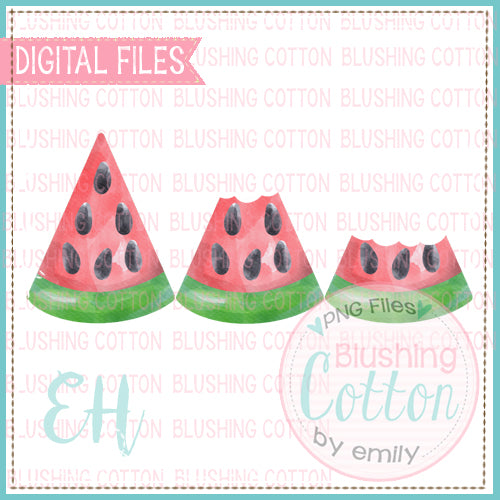WATERMELON TRIO BITTEN DESIGN    BCEH